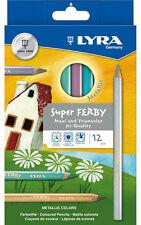 12 Lyra Super Ferby dicke Farbstifte Buntstifte Malstifte Jumbo Stifte metallic