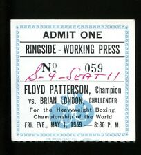 1959 Boxing Press Ticket Floyd Patterson v Brian London 5/1/59 23301