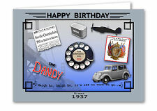 79th Birthday Card Souvenir of 1937 Silver Sixpence Gift Set (2016)