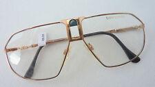 Longines hochwertige große  Brillenfassung Herren Metall gold Neu Aviator Gr.M