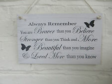 Friendship Sign Best Friend Gift Novelty Shabby Chic Plaque  You are Stronger
