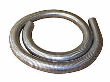 "76mm 3"" Flexible Polylock Stainless Steel Flexi Tube 2 Metre Exhaust Universal"