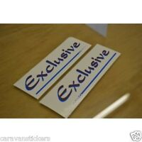 Hobby 'Exclusive' Caravan name Sticker Decal Graphic (Large) PAIR