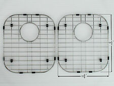 """Stainless Steel Bottom Grids for Kitchen Sink 14""""1/2 x 12""""5/8 (2 Pces)"""