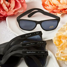 40 Personalized Black Sunglasses Favors Wedding Shower Party Event Bulk Lot