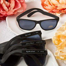 60 Personalized Black Sunglasses Favors Wedding Shower Party Event Bulk Lot