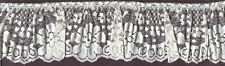 """4"""" IVORY PLEATED LACE FABRIC TRIM WITH BEADING 12 YARDS SEWING EMBELLISHMENT"""