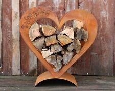 Herz-Holzregal aus verrostetem Metall, Edelrost Deko ihren Garten, Ihre Terrasse