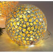 Kugellampe, Leuchte, Lichtkugel KARO mit 25 LEDs Glas Gelb bunt Ø 15cm Formano