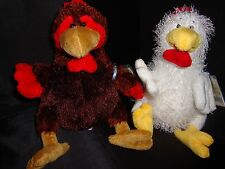 LOT of 2 Webkinz  CHICKEN + ROOSTER -  NWT