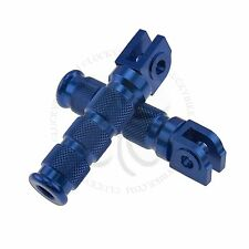 Blue Round Front Set Foot Pegs Yamaha YZF Rider Main Steps R1 R6 Footrest Bars