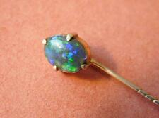 Beautiful Antique Black Opal in 9CT Solid Gold Australian Pin Brooch