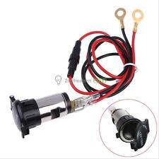 New Car Motorcycle 12V 120W Cigarette Lighter Metal Power Socket Plug Outlet
