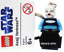 STAR WARS LEGO ASAJJ VENTRESS KEYRING KEYCHAIN