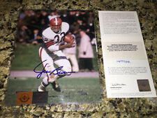 Jim Brown Signed Autographed Browns 8x10  Photo UDA Upper Deck LE 153/232