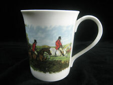 Fox Hunting Coffee Mug Bone China England Hudson Middleton Horses Dogs Red Coats