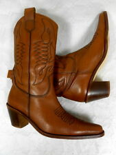 Bottes Santiags Boots Western Cowboy Catalan Stivali cuir leather 38 excell.état