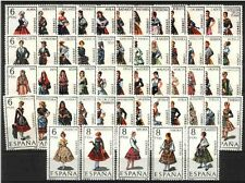 SPAIN Full Collection 53 Stamps Regional Dresses MNH Luxe