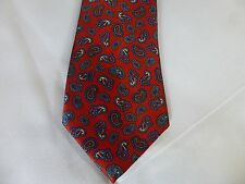 Beau Brummell Paisley Red Neck Tie