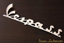 """Vespa Emblème Inscription Legshield """"Vespa S.s."""" - Chrome - 180 SS 50 90 Antique"""