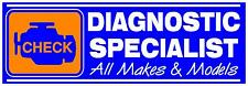 BLUE DIAGNOSTIC SPECIALISTS PVC OUTDOOR BANNER GARAGE WORKSHOP 2FT X 6FT