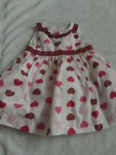 Baby 8 3-6 months girl  dress hearts dressy holiday