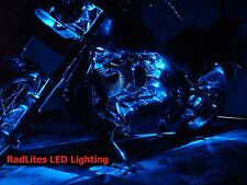 8 Pc Blue Neon Flexible LED Motorcycle Lighting Kit with Remote Control EFX!