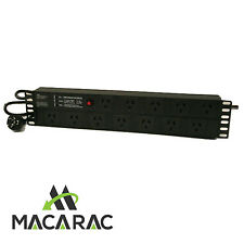 "2RU 12 WAY POWER DISTRIBUTION UNIT (PDU) 19"" Inch Rack-Mount Application"