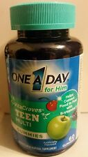 One A Day Teens For Him  Vita Craves Multi Gummies 60 NEW