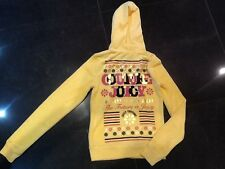 NWT Juicy Couture New & Gen. Ladies Small Yellow Towelling Hoody & Gold Logo