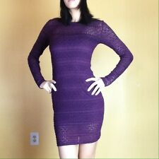 NWOT Forever 21 Women's Junior's Purple Long Sleeve Lace Bodycon Dress Size XS S