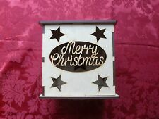 MDF Wooden Merry Christmas LED light box. Christmas Decoration