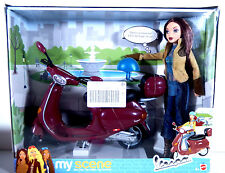 NIB BARBIE DOLL MY SCENE 2003 MADISON RED VESPA MOTORCYCLE SCOOTER