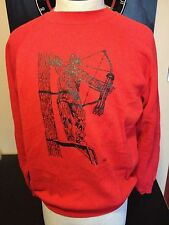 Vintage 80s Crossbow Bow And Arrow Hunting Sweatshirt Deer Most Interesting Man