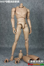 "1/6 Scale 12"" Figure Narrow Shoulder Caucasian Male Body Model Toy Doll B001"