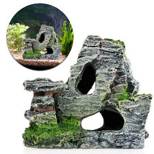 Mountain View Aquarium Rock Cave Tree Bridge Rockery Decor Fish Tank Ornament