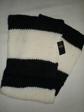 NWT HOLLISTER SOFT COZY INFINITY SCARF WHITE AND NAVY