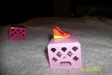 new Shopkins Season 2 Wedgy Wendy Red Orange Shoes 2-110 Loose New Common