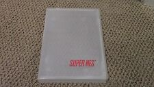 Official OEM Super Nintendo SNES NES Game Case Clear Plastic Snap MINT