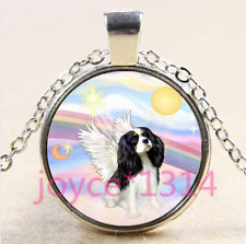 Cavalier King Charles Spaniel Cabochon silver Glass Chain Pendant Necklace #4408
