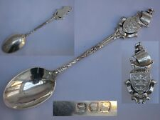 Rare Antique Edwardian English Sterling Silver Shipped Finial Spoon Wakely & Whe