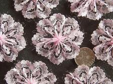 """100 fleur dentelle magnifique! rosettes-Lovely Rose pâle rosette fleurs de 4 cm / 1,5 """""""