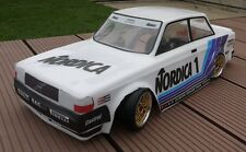 Unpainted 1/10 Volvo 240 Turbo Classic Group A Touring Car RC Body 190mm 200mm