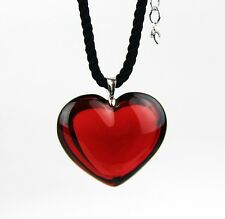 BACCARAT JEWELRY GLAMOUR HEART RUBY PENDANT NECKLACE PENDANT & SILVER NEW FRANCE