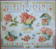 RARE 1998 DUTCH CROSS STITCH CHART PATTERN ROSE MARJOLEIN BASTIN LANARTE LIBELLE