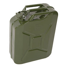 5-Gallon Metal Safety Gas Fuel Caddy Tanks Military Style 20 Liter Storage