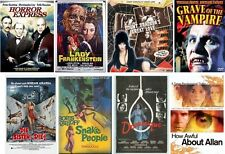 seventeen 70s horror films on 1 MP4 DVD-ROM **Lee+Cushing **Boris Karloff ***fab