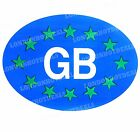 1 x Blue Oval GB Magnetic Travel Rear Sticker Car Van Vehicles Pack Plate Pack