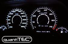 PLASMA TACHO Tachoscheiben Plasmascheiben VW Golf 3 16V VR6 GTI 20-260 kmh WEISS