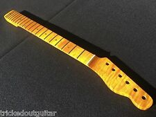 FLAME MAPLE 1 PIECE GUITAR NECK FITS FENDER TELE TELECASTER VINTAGE FINISH #9